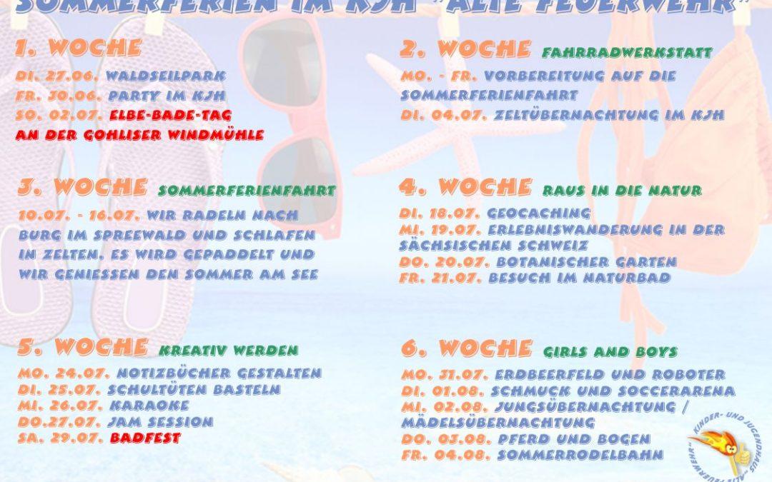 """Sommerferien im KJH """"Alte Feuerwehr"""""""