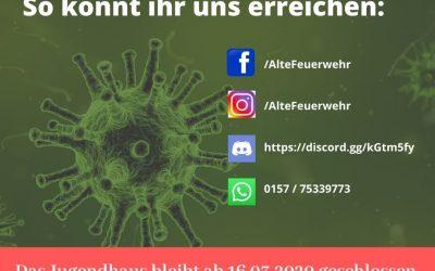 Coronavirus: vorsorgliche Schließung des Jugendhauses